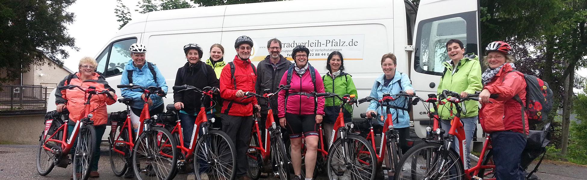 Radtouren auch bei nassem Wetter